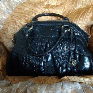 Black Brahmin Louis Rose Handbag